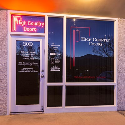 High Country Doors Showroom
